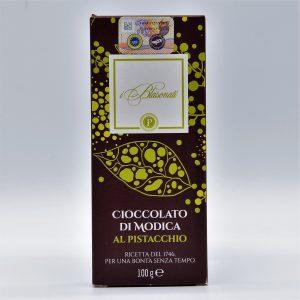 Cioccolato di Modica al pistacchio – I Blasonati – Artigiana Biscotti