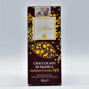 Cioccolato di Modica 75% Cacao – I Blasonati – Artigiana Biscotti