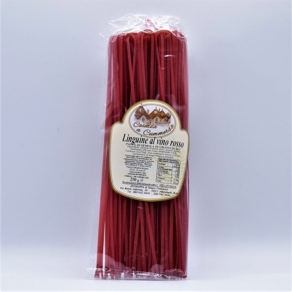 Linguine al Vino Rosso Primitivo – Casedda a Cummersa