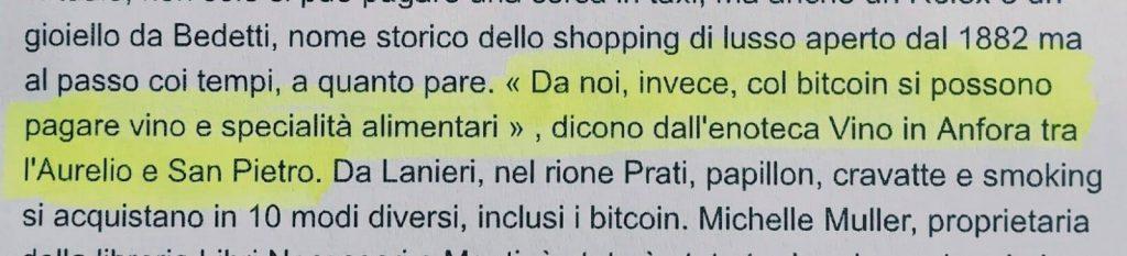 Enoteca Vino in Anfora accetta il pagamento in Bitcoin ed altre criptomonete