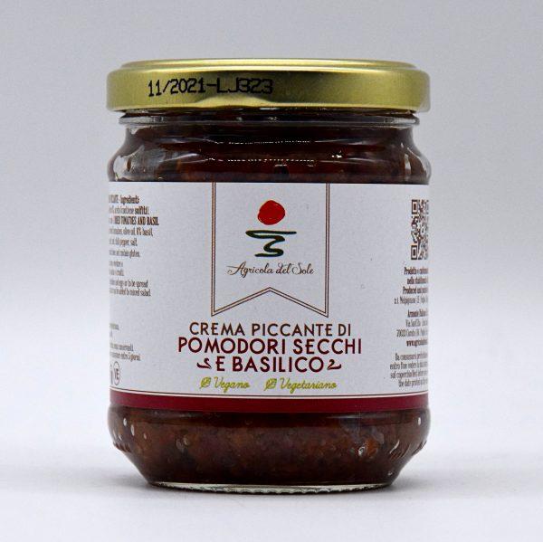 Crema piccante di pomodori secchi e basilico