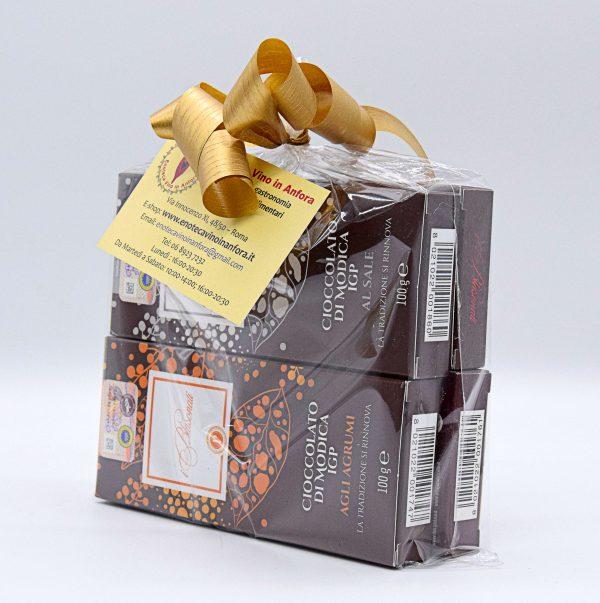 Assortimento Cioccolato di Modica – I Blasonati – Confezione Regalo