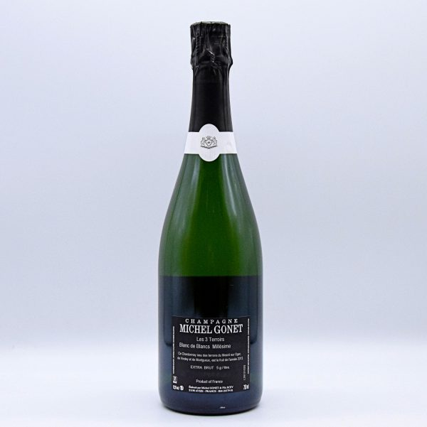 """Champagne Extra Brut Millésime Blanc de Blancs """"Les 3 Terroirs"""" – Michel Gonet"""
