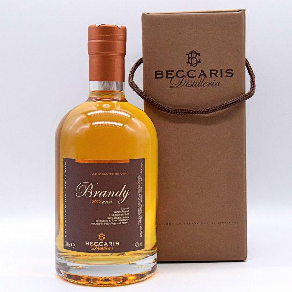 Brandy invecchiato 20 anni (con astuccio) – Distilleria Beccaris