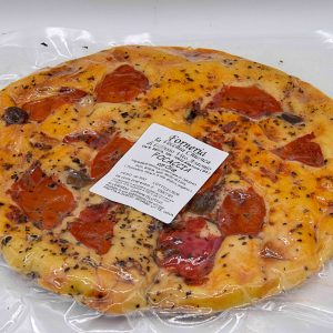 Focaccia Pugliese con Pomodori e Olive