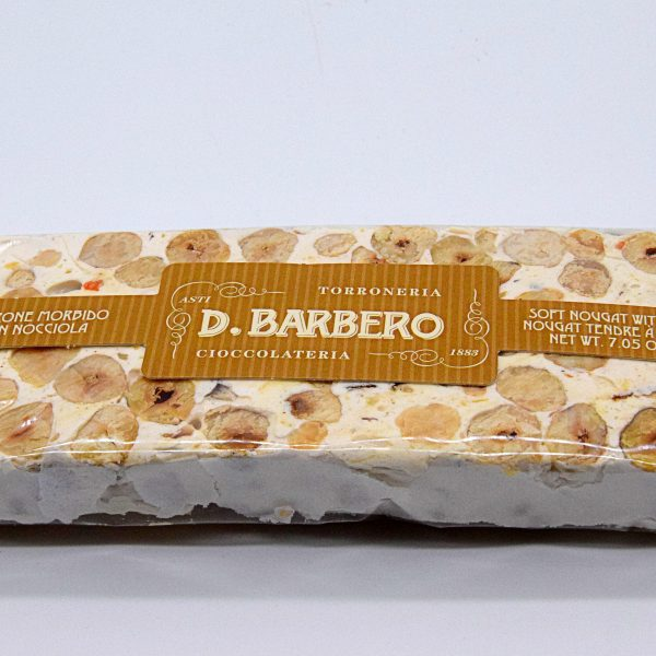 Stecca di Torrone Morbido con Nocciola – Davide Barbero